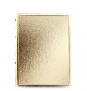 Filofax Notebook Saffiano Metallic A5 Gold