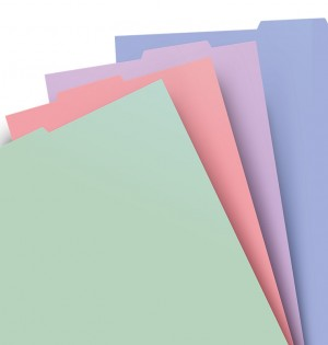 Filofax Notebook A4 Pastel Coloured Indices