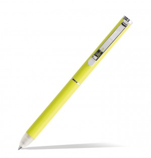 Clipbook Saffiano Fluoro Erasable Ballpen Yellow