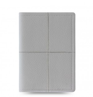 Classic Stitch Soft Passport Holder Grey