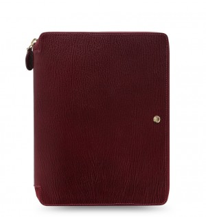 Chester A5 Zip Writing Folio Red