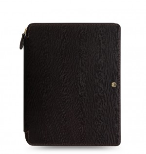 Chester A5 Zip Writing Folio Brown