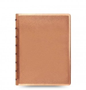 Filofax Notebook Saffiano Metallic A5 Rose Gold
