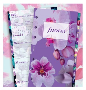 Floral Illustrated Diary Refill Pack Personal 2019