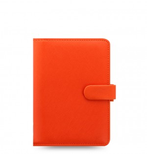 Saffiano Personal Organiser Bright Orange 2020